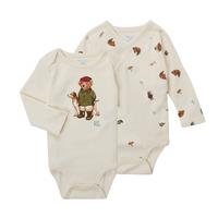 Textiel Jongens Body Polo Ralph Lauren TAKINA Ecru