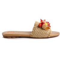 Schoenen Dames Leren slippers Porronet 2704 Beige