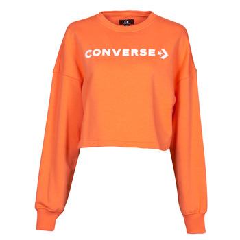 Textiel Dames Sweaters / Sweatshirts Converse EMBROIDERED WORDMARK CREW Orange