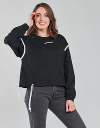 Textiel Dames Sweaters / Sweatshirts Converse LONG SLEEVE JERSEY CREW Zwart