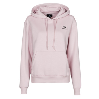 Textiel Dames Sweaters / Sweatshirts Converse WOMENS EMBROIDERED STAR CHEVRON PULLOVER HOODIE BB Violet