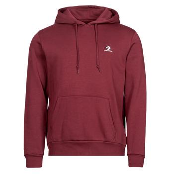 Textiel Heren Sweaters / Sweatshirts Converse EMBROIDERED STAR CHEVRON PULLOVER HOODIE BB Bordeaux