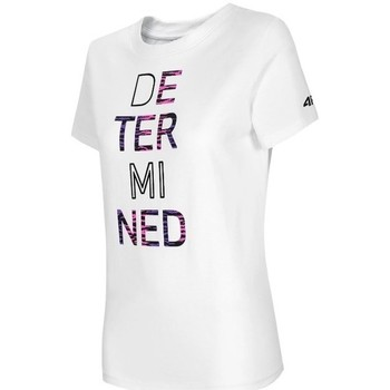 Textiel Dames T-shirts korte mouwen 4F TSD018 Blanc