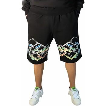 Textiel Heren Korte broeken / Bermuda's Lotto LTU316 Black