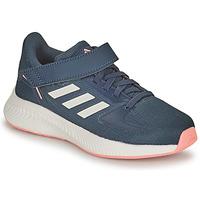 Schoenen Meisjes Running / trail adidas Performance RUNFALCON 2.0 C Marine / Roze