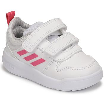 Schoenen Meisjes Lage sneakers adidas Performance TENSAUR I Wit / Roze