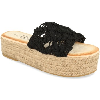 Schoenen Dames Leren slippers H&d YZ19-311 Negro
