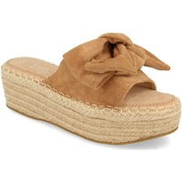 Schoenen Dames Leren slippers H&d YZ19-325 Marron