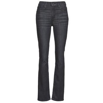 Textiel Dames Straight jeans Levi's 725 HIGH RISE STRAIGHT Zwart