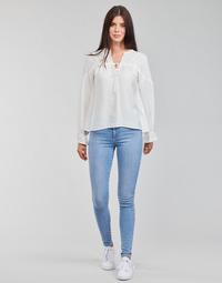 Textiel Dames Skinny Jeans Levi's 720 HIRISE SUPER SKINNY Blauw