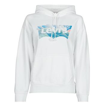 Textiel Dames Sweaters / Sweatshirts Levi's GRAPHIC STANDARD HOODIE Wit