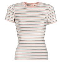 Textiel Dames T-shirts korte mouwen Levi's SS RIB BABY TEE Multicolour