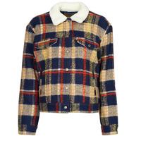 Textiel Dames Spijker jassen Levi's WOOL TRUCKER Multicolour