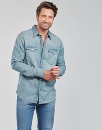 Textiel Heren Overhemden lange mouwen Levi's BARSTOW WESTERN STANDARD Blauw