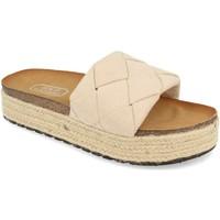 Schoenen Dames Leren slippers H&d YT32 Beige