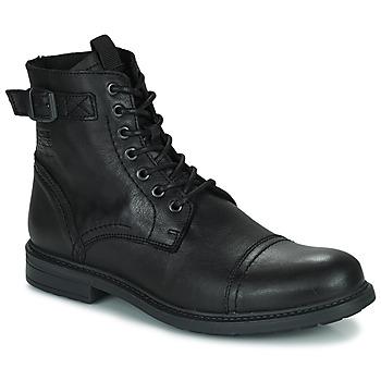 Schoenen Heren Laarzen Jack & Jones JFW SHELBY LEATHER Zwart