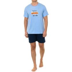 Textiel Heren Pyjama's / nachthemden Kisses And Love Kisses & Love Pyjama M / Short Blauw