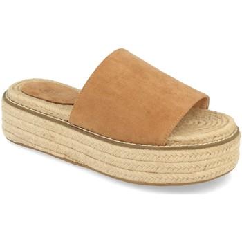 Schoenen Dames Leren slippers H&d YZ19-205 Marron