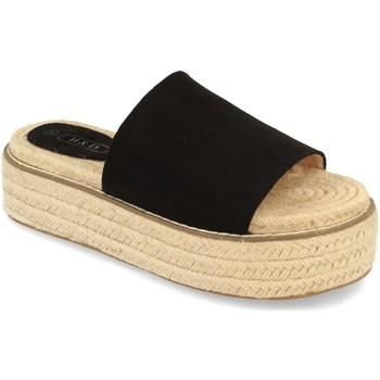 Schoenen Dames Leren slippers H&d YZ19-205 Negro