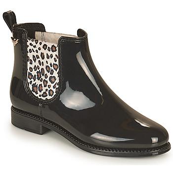 Schoenen Dames Regenlaarzen Les Petites Bombes RAIN Zwart / Leopard