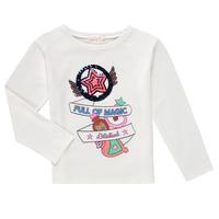 Textiel Meisjes T-shirts met lange mouwen Billieblush FADILA Wit