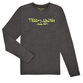 Textiel Jongens T-shirts met lange mouwen Teddy Smith TICLASS3 ML Grijs