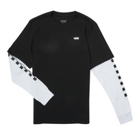 Textiel Jongens T-shirts met lange mouwen Vans LONG CHECK TWOFER Zwart