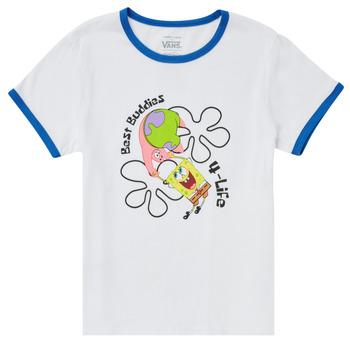Textiel Meisjes T-shirts korte mouwen Vans VANS X SPONGEBOB BEST BUDDIES RINGER Wit