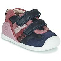 Schoenen Meisjes Lage sneakers Biomecanics BIOGATEO SPORT Marine / Roze