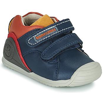 Schoenen Jongens Lage sneakers Biomecanics BIOGATEO CASUAL Marine