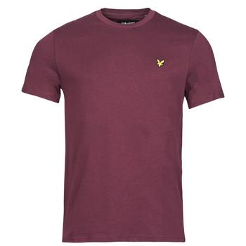 Textiel Heren T-shirts korte mouwen Lyle & Scott ROBINA Bordeaux
