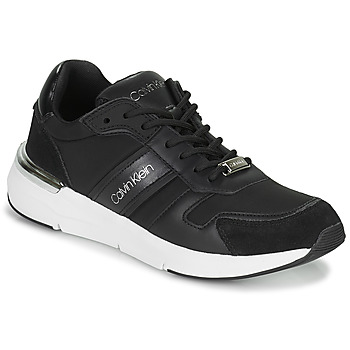 Schoenen Dames Lage sneakers Calvin Klein Jeans FLEXRUNNER MIXED MATERIALS Zwart / Zilver