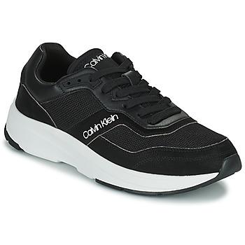 Schoenen Heren Lage sneakers Calvin Klein Jeans LOW TOP LACE UP MIX Zwart