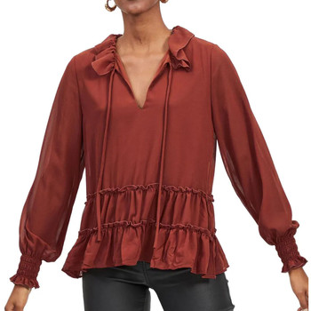 Textiel Dames Overhemden Vila  Rood