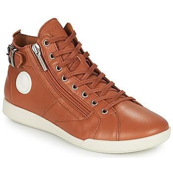 Schoenen Dames Hoge sneakers Pataugas PALME  camel