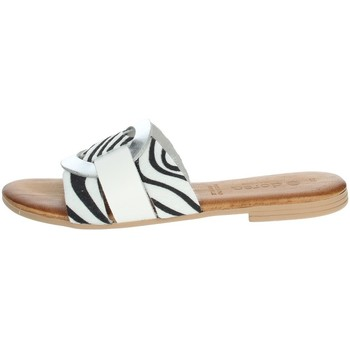 Schoenen Dames Leren slippers Dorea MH105 White