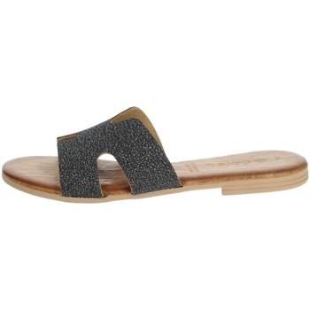 Schoenen Dames Leren slippers Dorea MH103 Charcoal grey