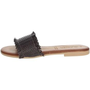 Schoenen Dames Leren slippers Dorea MH101 Brown
