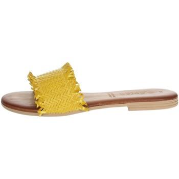 Schoenen Dames Leren slippers Dorea MH101 Yellow