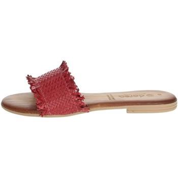 Schoenen Dames Leren slippers Dorea MH101 Red
