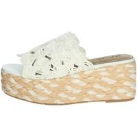 Schoenen Dames Leren slippers Keys K-4860 White