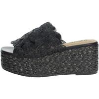 Schoenen Dames Leren slippers Keys K-4860 Black