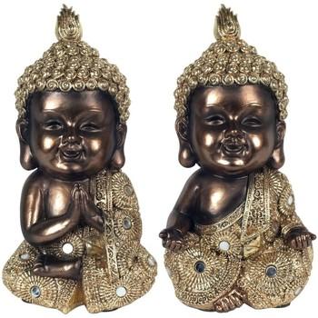Wonen Beeldjes Signes Grimalt Gouden Boeddha'S Set 2U Multicolor