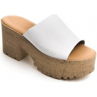 Schoenen Dames Leren slippers Purapiel 71174 WHITE