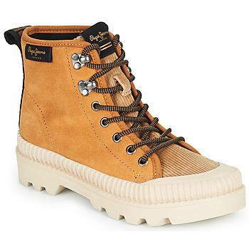 Schoenen Dames Hoge sneakers Pepe jeans ASCOT DESERT  camel