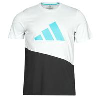 Textiel Heren T-shirts korte mouwen adidas Performance FUTURE BLK TEE Wit / Kristal