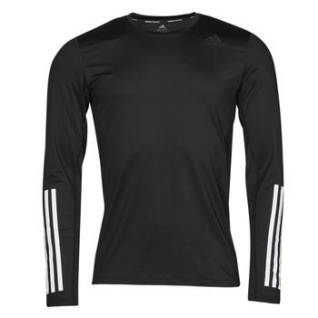 Textiel Heren T-shirts met lange mouwen adidas Performance TF LS FT 3S Zwart