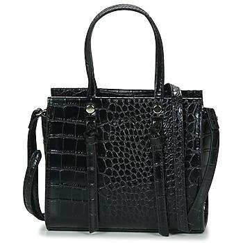 Tassen Dames Handtassen lang hengsel Nanucci 8017 Zwart