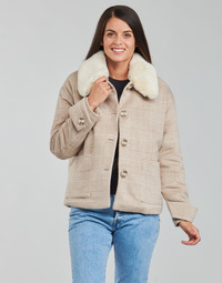 Textiel Dames Mantel jassen Naf Naf AMORINO Beige