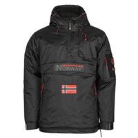 Textiel Heren Parka jassen Geographical Norway BARKER Zwart